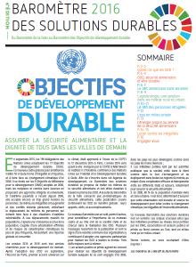 Publication du Baromètre des solutions durables 2016