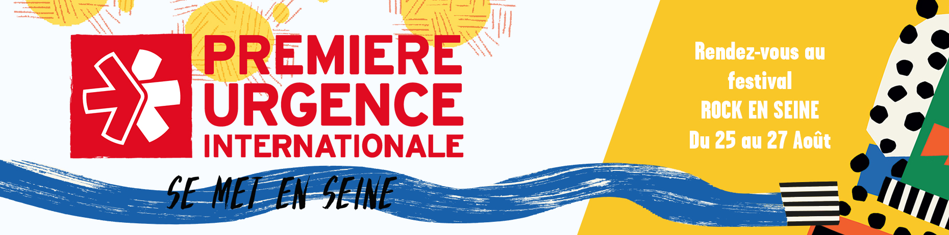 Première Urgence Internationale se met en Seine, à Rock-en-Seine