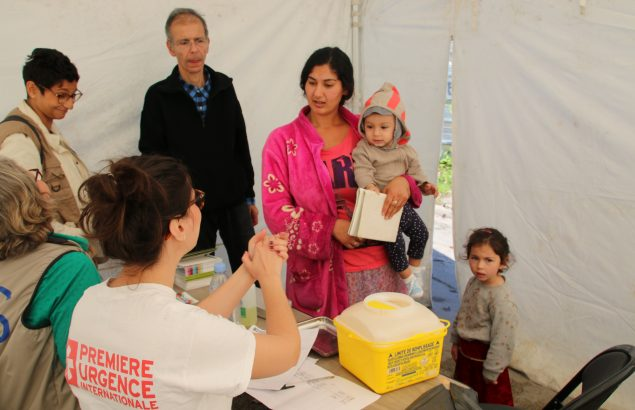 Suite à une épidémie de rougeole des séances de vaccination ont été organisées