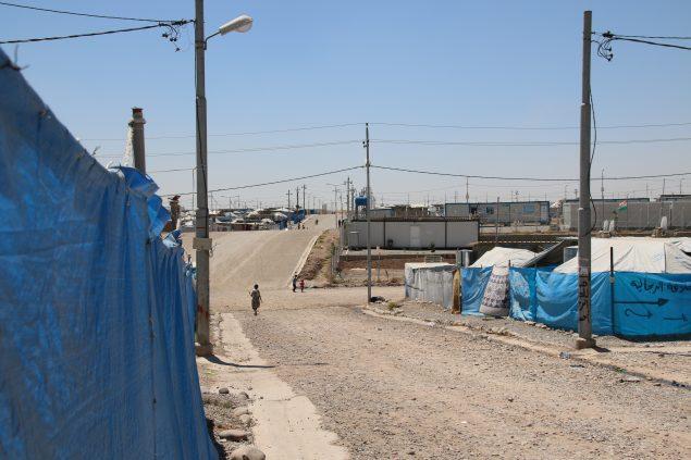 Une allée du camp de réfugiés de Gawilan