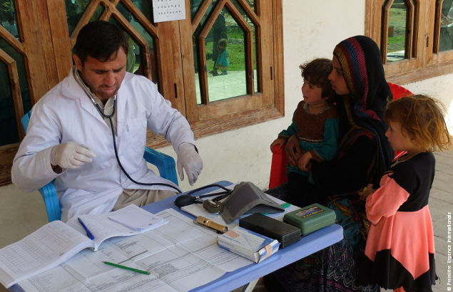 A medical consultation of an Afghan family