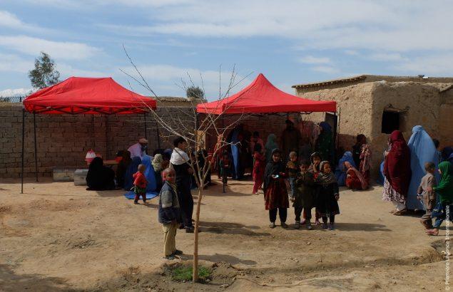 Un camp où Première Urgence Internationale continue son action malgré les attentats en Afghanistan récents