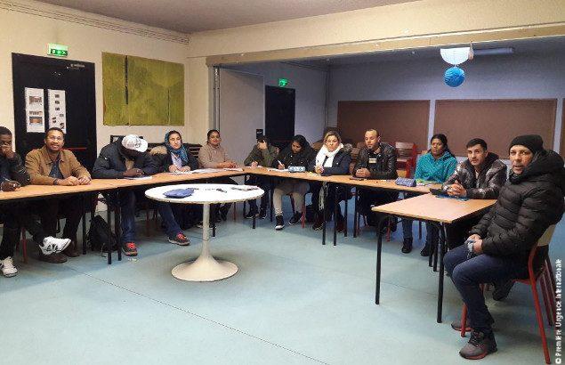 atelier sociolinguistique au centre d'Ivry-sur-Seine