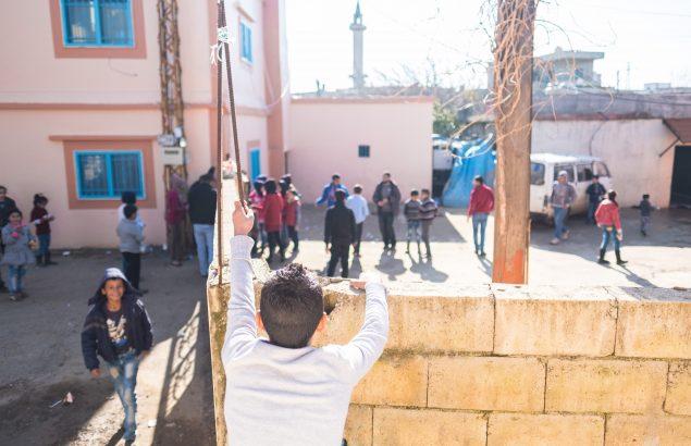 Cour d'école au Liban