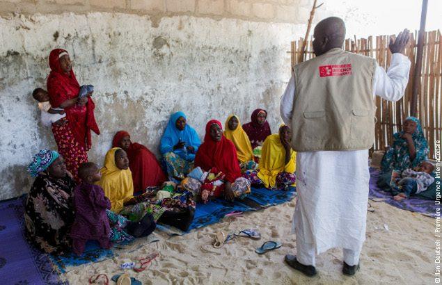 Séance de formations des communautés au Nigeria