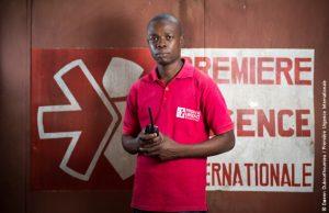 Grâce à Dieu Guedourou est assistant responsable de la plateforme logistique en RCA de Première Urgence Internationale
