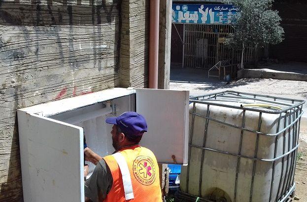 Construction d'un réseau d'eau potable