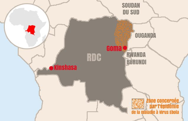 Ebola premier cas diagnostiqué à Goma
