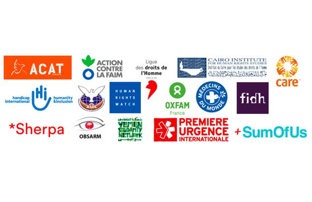 Logos des ONG signataires