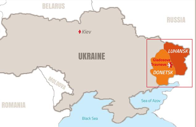 Map of humanitarian assistance in Ukraine
