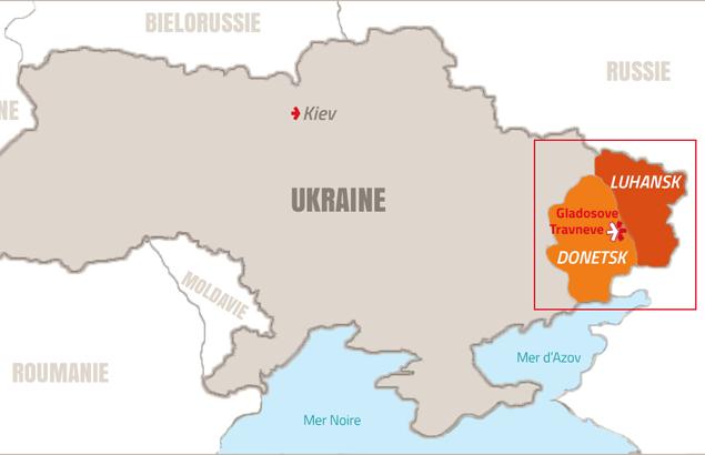 Carte de l'assistance humanitaire en Ukraine