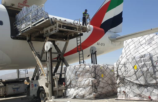 COVID-19 pandemic in Afghanistan - Humanitarian air bridge to deliver medical equipment and drugs