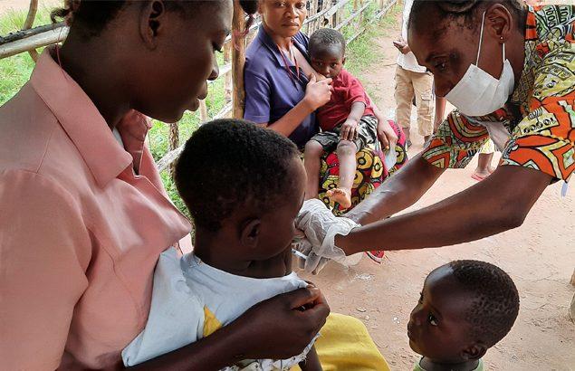 vaccination contre la rougeole en République démocratique du Congo
