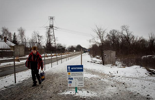 © Sadak Souici | Conflit Ukrainien : un civil vers la ligne de contact