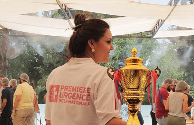 ©Première Urgence Internationale | Ahed Al Ezzo durant un de ces moments de repos et de cohésion