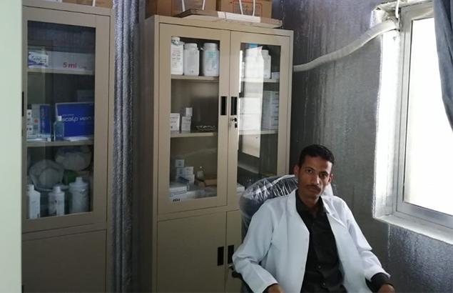 © Première Urgence Internationale | Réhabilitation de la pharmacie permettant l'accès aux soins de santé à Jahzar au Yémen