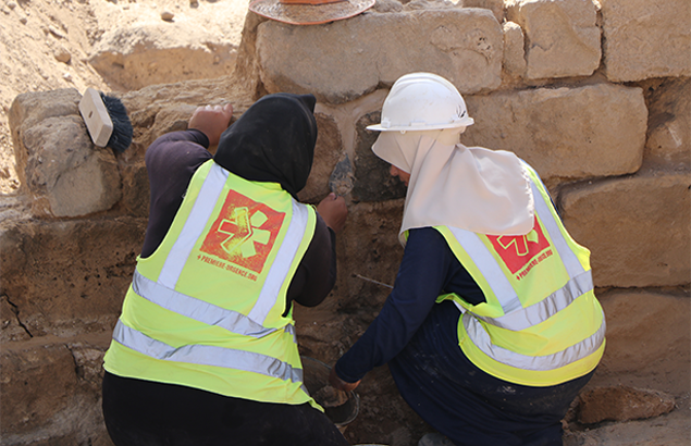 Archaeology graduates during their practical training at Saint Hilarion Monastery, 2019