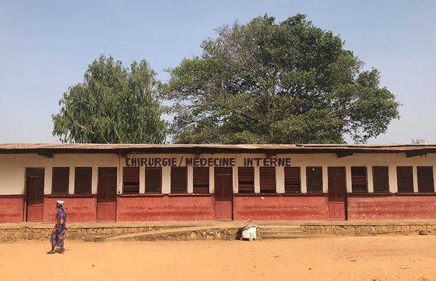 Hôpital de district de Ndélé où Première Urgence Internationale travaille sur le renforcement du système de santé dans la Préfecture de la Bamingui-Bangoran en République centrafricaine