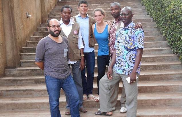 Kares Mwahulwa, Coordinateur WASH pour Première Urgence Internationale, à Yaoundé lors d'un atelier WASH
